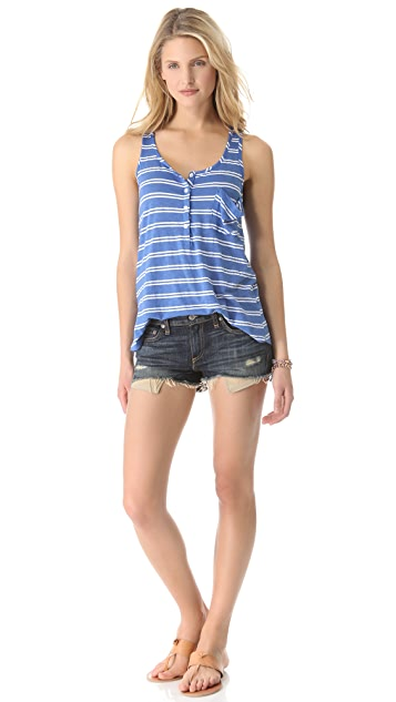 Splendid Double French Stripe Tank