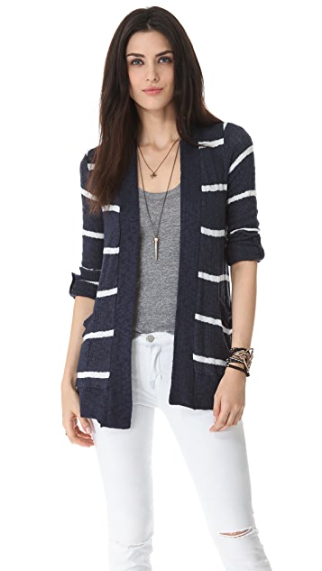 Splendid French Riviera Stripe Cardigan