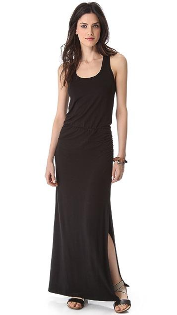 Splendid Maxi Dress with Draped Skirt