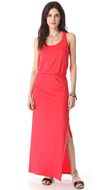 Splendid Maxi Dress with Draped Skirt