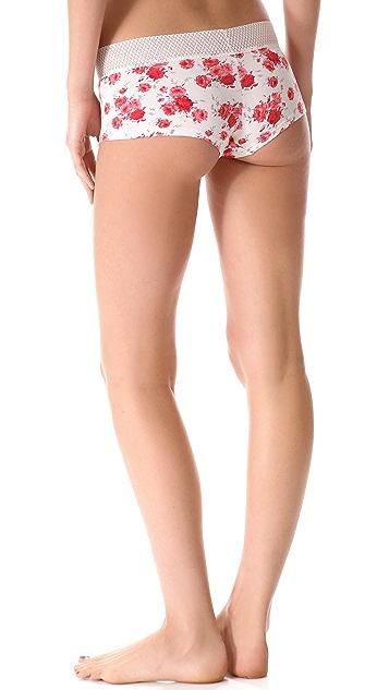 Splendid Mesh Lace Boy Shorts