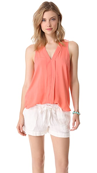 Splendid Sleeveless V Neck Top