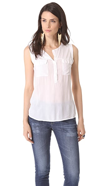 Splendid Pocket Sleeveless Shirt