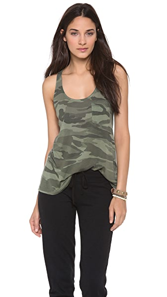 Splendid Camo Racer Back Top