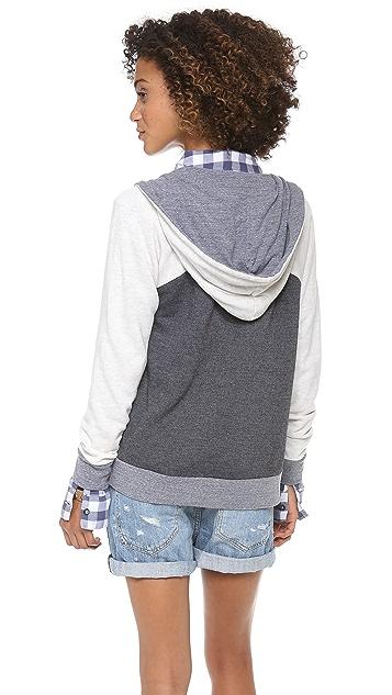 Splendid Melange Colorblock Hoodie
