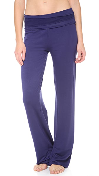 Splendid Splendid Sleep Fold Over Pants