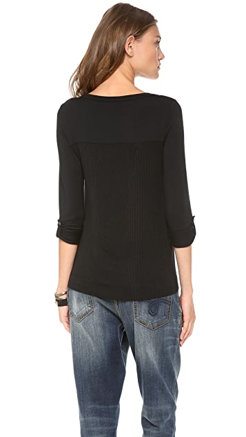 Splendid Super Soft Knit Henley