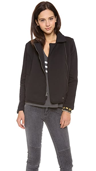 Splendid Solid Fleece Moto Jacket