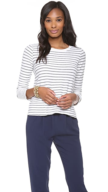 Splendid Lexington Stripe Active Tee with Pockets
