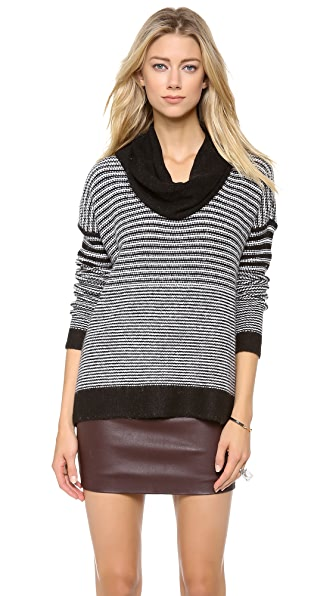 Splendid Lenox Stripe Cowl Sweater