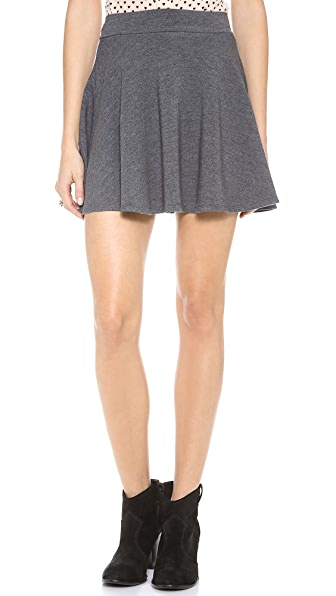 Splendid Layers Flare Mini Skirt