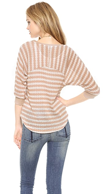 Splendid Antwerp Stripe Loose Knit Pullover
