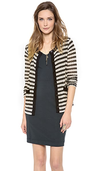 Splendid Antwerp Stripe Loose Knit Cardigan