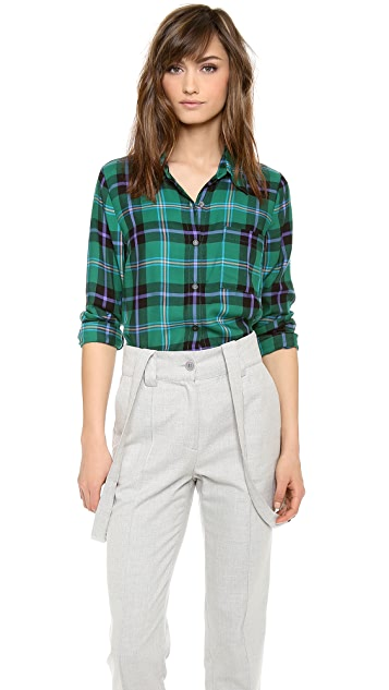 Splendid Snowpeak Plaid Button Down Shirt