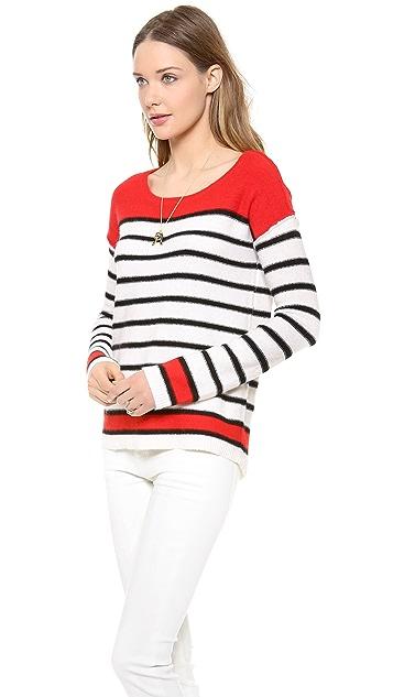 Splendid Pop Stripe Colorblock Pullover