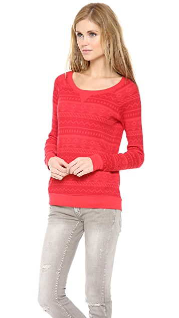 Splendid Printed Thermal Pullover