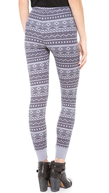 Splendid Printed Thermal Leggings