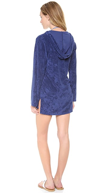 Splendid Signature Terry Hooded Tunic Cover Up