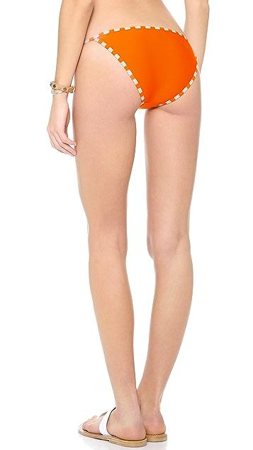 Splendid Miami Stripe Tie Side Bikini Bottoms