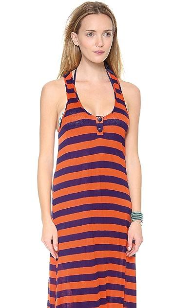 Splendid Marcel Stripe Maxi Cover Up Dress