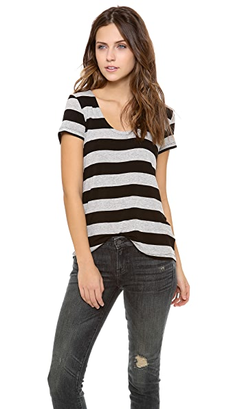 Splendid Striped Drapey Lux Tee