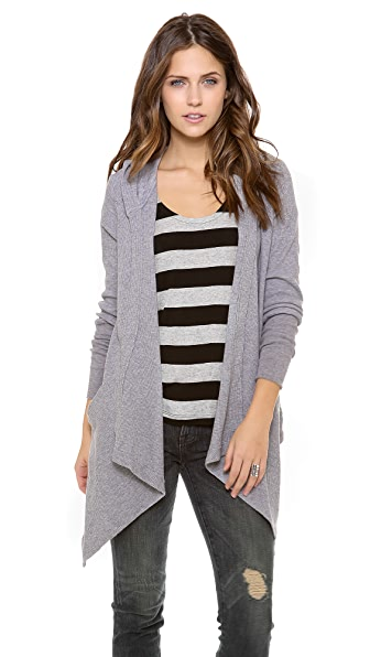 Splendid Thermal Cardigan with Hood