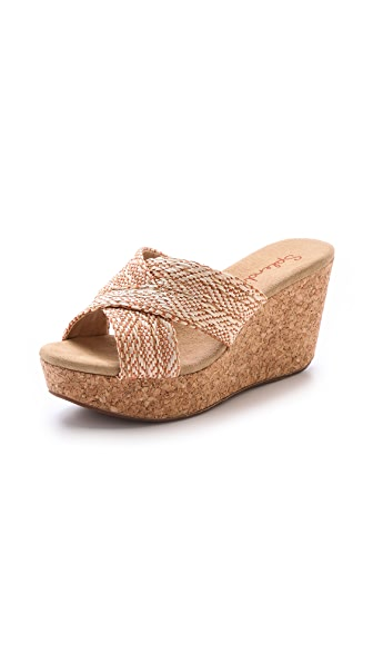 Splendid Goleta Cork Wedge Slides
