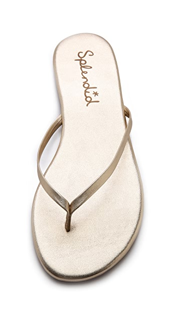 Splendid Madrid Metallic Flip Flops
