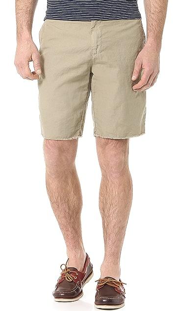 Splendid Woven Short with Raw Hem