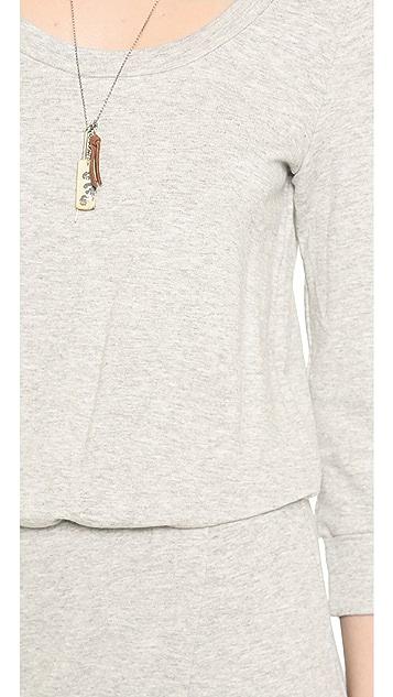 Splendid Sweatshirt Maxi Dress with Slit