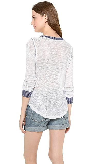 Splendid Mineral Melange Loose Knit Pullover