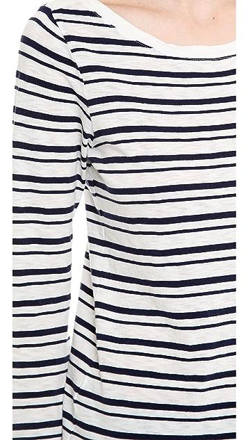 Splendid Vintage Coastal Stripe Tee with Long Sleeves