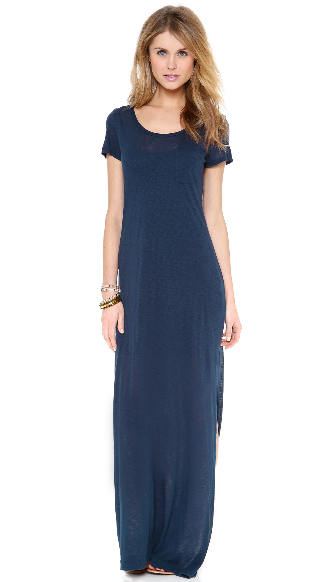 Splendid T-Shirt Maxi Dress with Slit | 15% off first app purchase ...