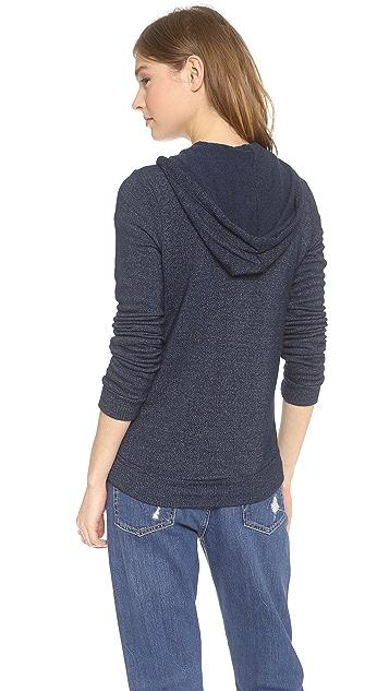 Splendid Soft Melange Zip Hoodie