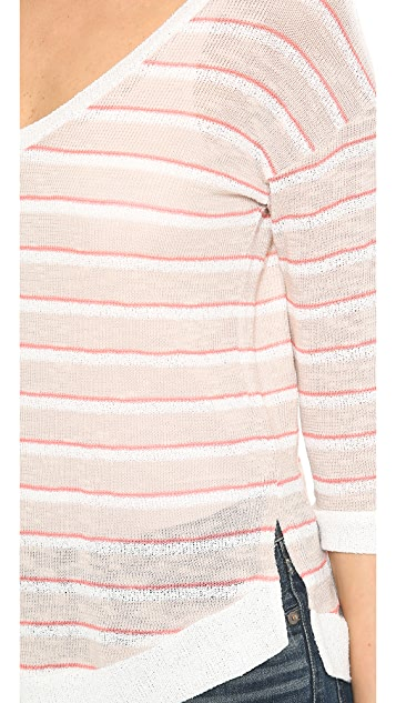 Splendid Laguna Stripe Loose Knit Dolman