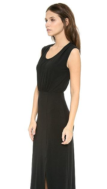Splendid Cap Sleeve Maxi Dress with Slit