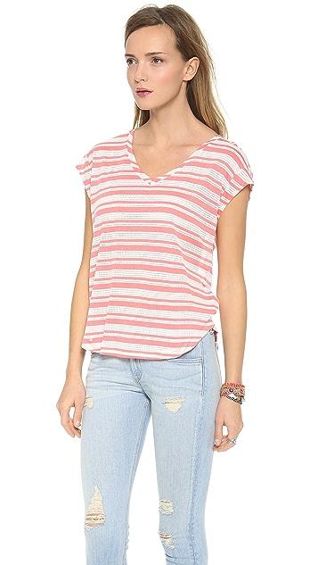 Splendid Marina Eyelet Stripe Top
