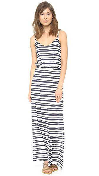 Splendid Marina Eyelet Stripe Maxi Dress