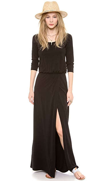 Splendid High Slit Maxi Dress