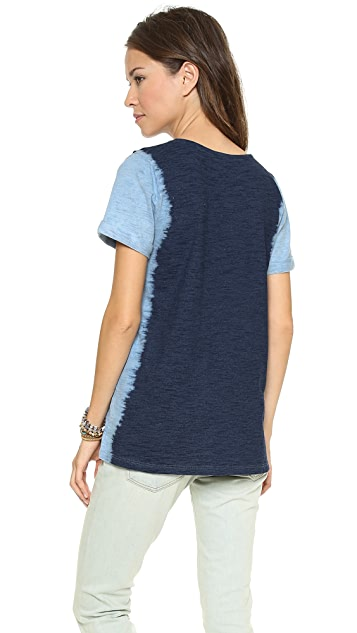 Splendid Indigo Dye Pocket Tee