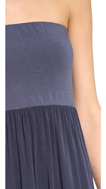 Splendid Combo Strapless Maxi Dress