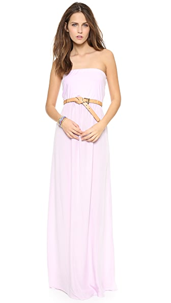 Splendid Combo Strapless Maxi Dress
