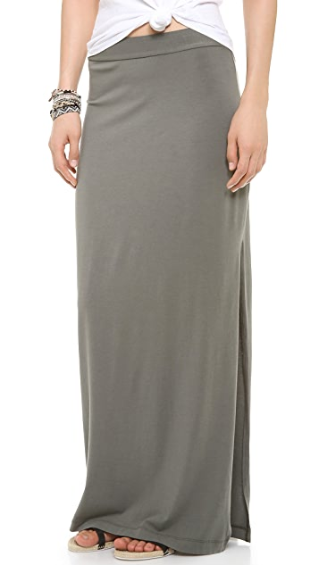 Splendid Maxi Skirt with Slit