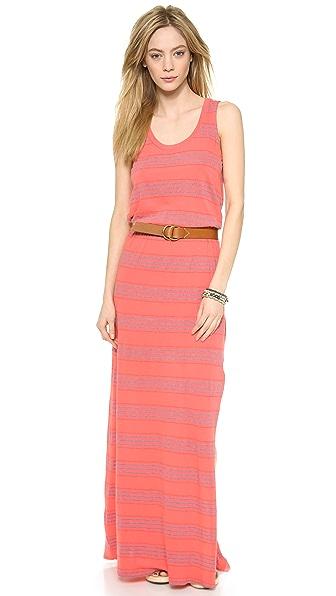 Splendid Pipeline Stripe Maxi Dress