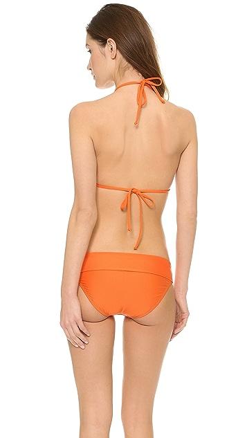 Splendid The Blues Reversible Triangle Bikini Top