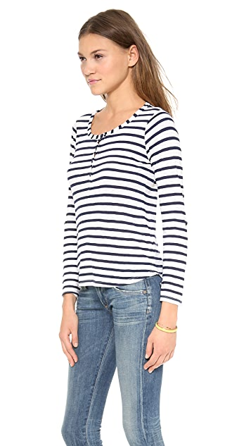 Splendid Striped Henley Top