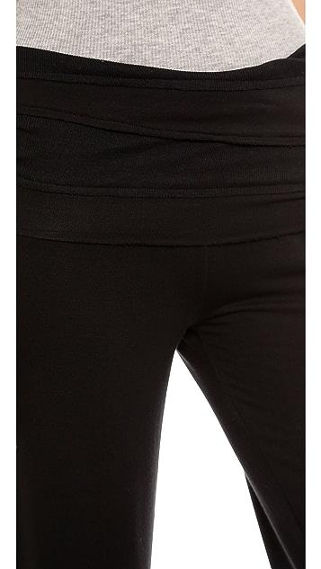 Splendid Terry Fold Over Pants