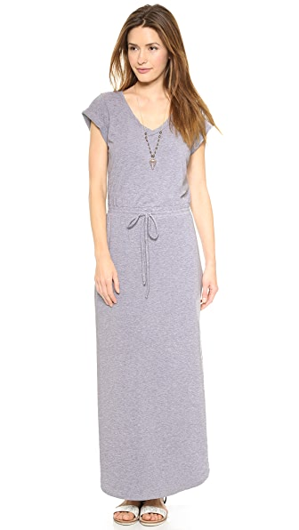 Splendid Tie Waist Maxi Dress
