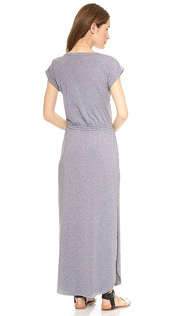 Splendid Tie Waist Maxi Dress