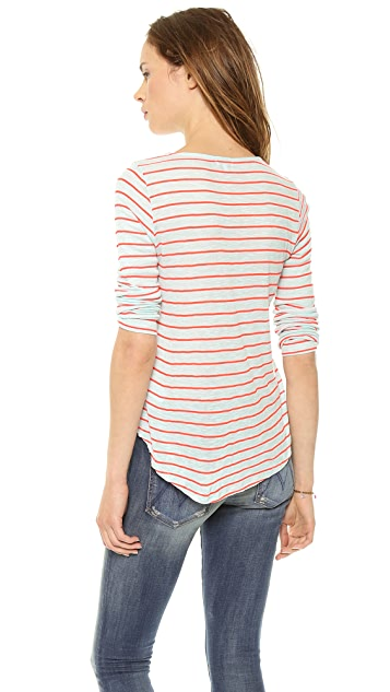 Splendid New Haven Stripe Pocket Tee